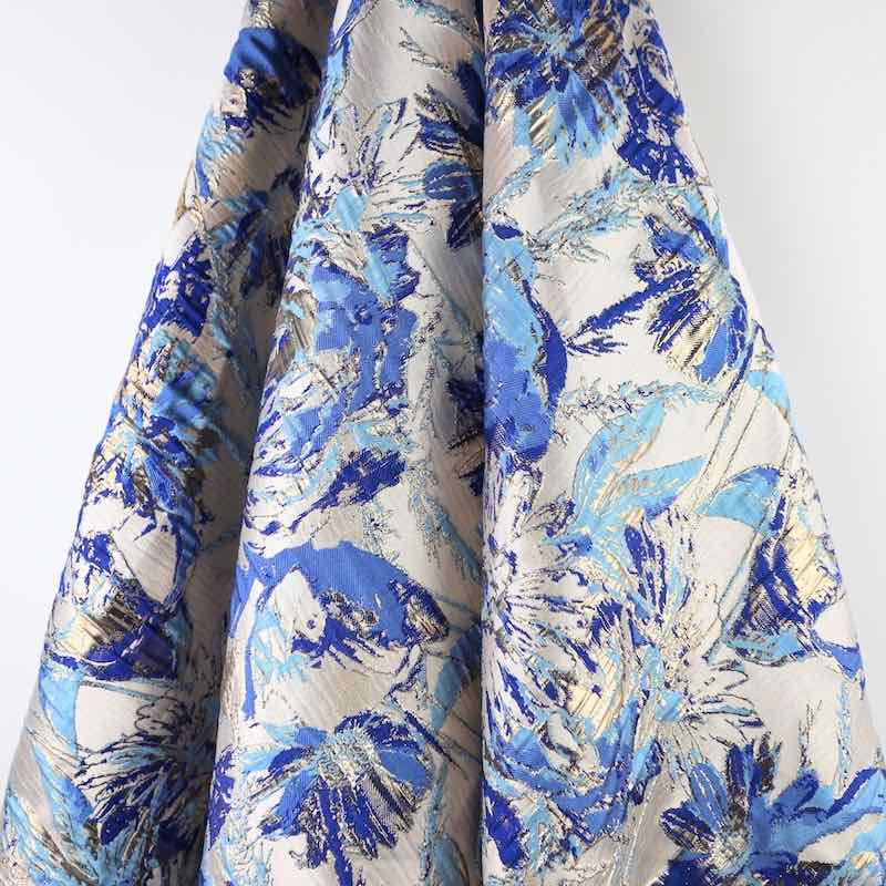 metallic jacquard fabric